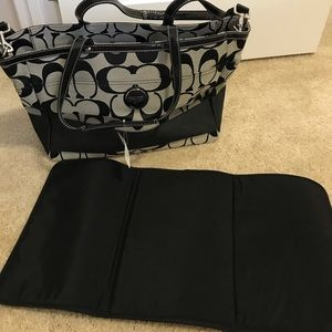 Coach Diaper Bag/tote with changing pad. NWT